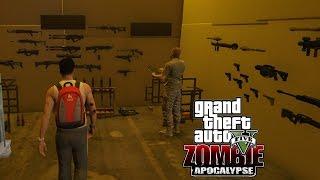 Зомби Апокалипсис в GTA 5 - Нашел базу военных и склад с оружием!