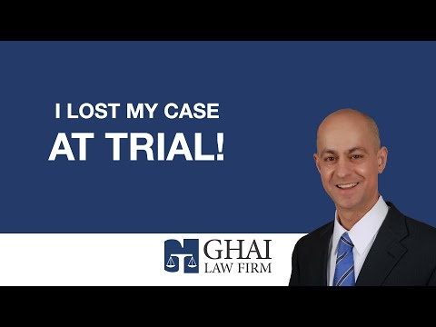 I Lost My Case at Trial!