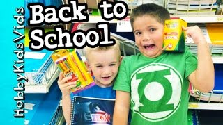 Back to School Shopping Haul! Backpacks, Markers + Crayons Folders HobbyKidsVids
