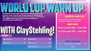 🔴 World Cup Warm Up! // $500,000 Round 1 // Fortnite Battle Royale
