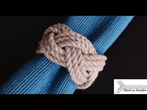 Rope Napkin Ring- Turk's Head Style