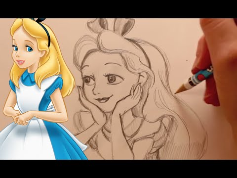 How to Draw Alice from Alice in Wonderland