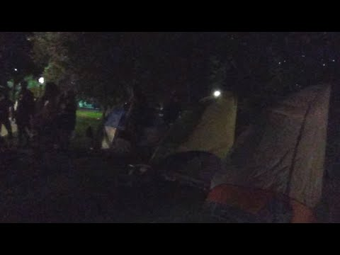 Video from r/denverprotests of police clearing out a peaceful encampment with excessive force. Starts at time stamp 1:28:47