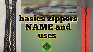 Different types of basics zippers