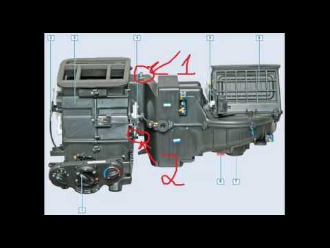 Замена радиатора печки Chevrolet Lacetti . Устанвока климат контроля