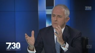 Malcolm Turnbull talks same-sex marriage, growth, Hillary Clinton on 7.30