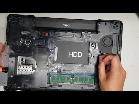 Dell Latitude E5540 Disassembly Ram Ssd Hard Drive Upgrade Repair Fan Replacement Youtube
