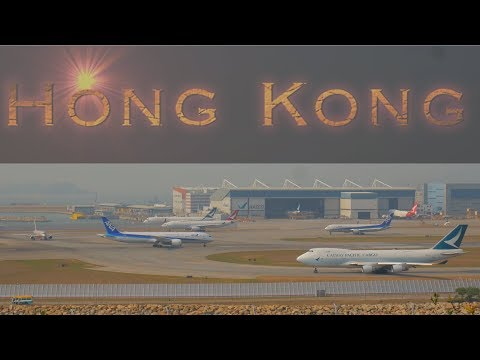 Hong Kong Airport Aircraft Movements with air traffic contro
