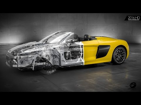 Audi R8 Spyder V10 | Audi Space Frame Animation | HOW IT