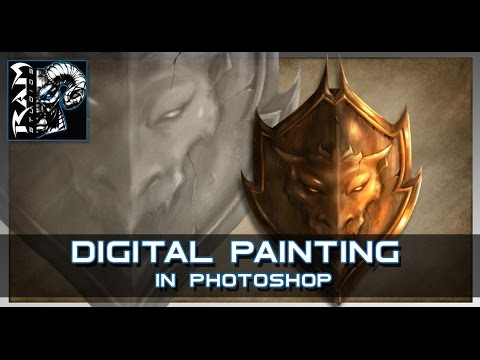 Digital Painting Tutorial - Adobe Photoshop - Hard Edge Technique - Narrated