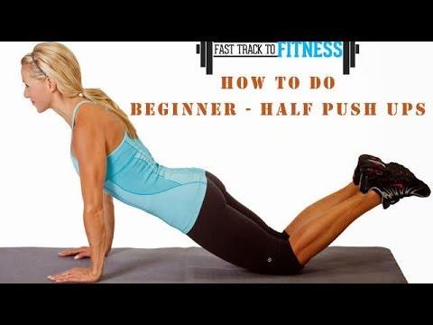 How To Do Beginner - Half Push Ups