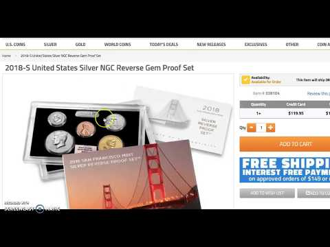 US Mint Reverse Proof Sets Release Today 12:00 Eastern / 9:00 Pacific