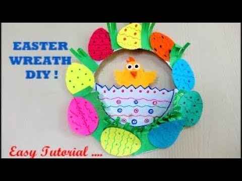DIY Easter Wreath !! Easy Tutorial ~ Easter Craft ideas ~ Instructions / Steps