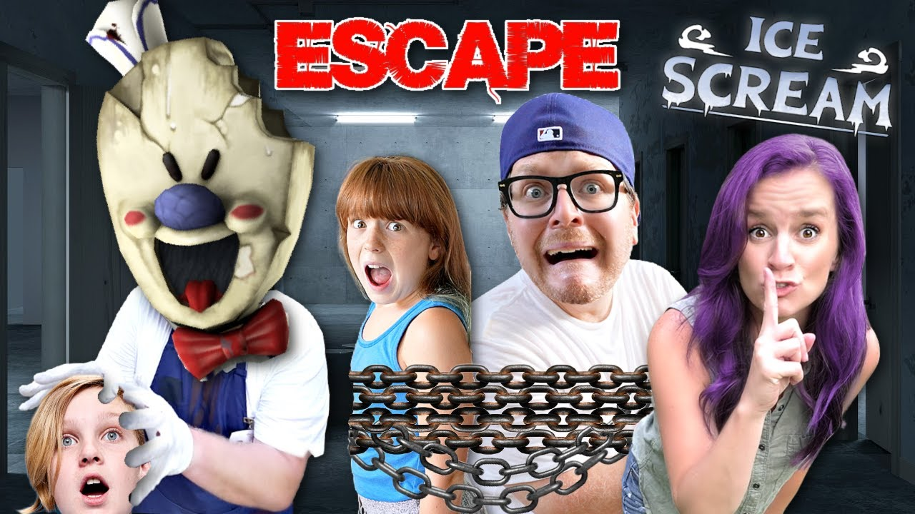 ICE SCREAM 4 IN REAL LIFE - Escape Room with ROD & PROHACKER
