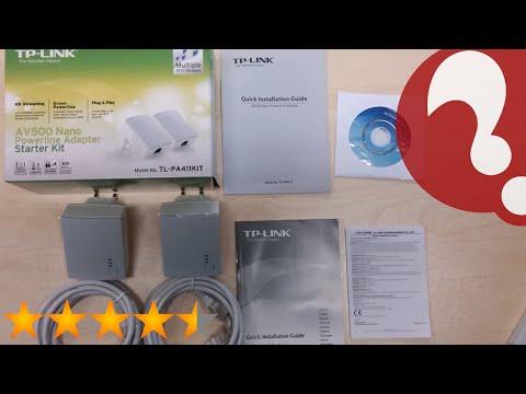TP-LINK TL-PA4010KIT AV500 Nano Powerline Adapter Starter Kit, up to 500Mbps