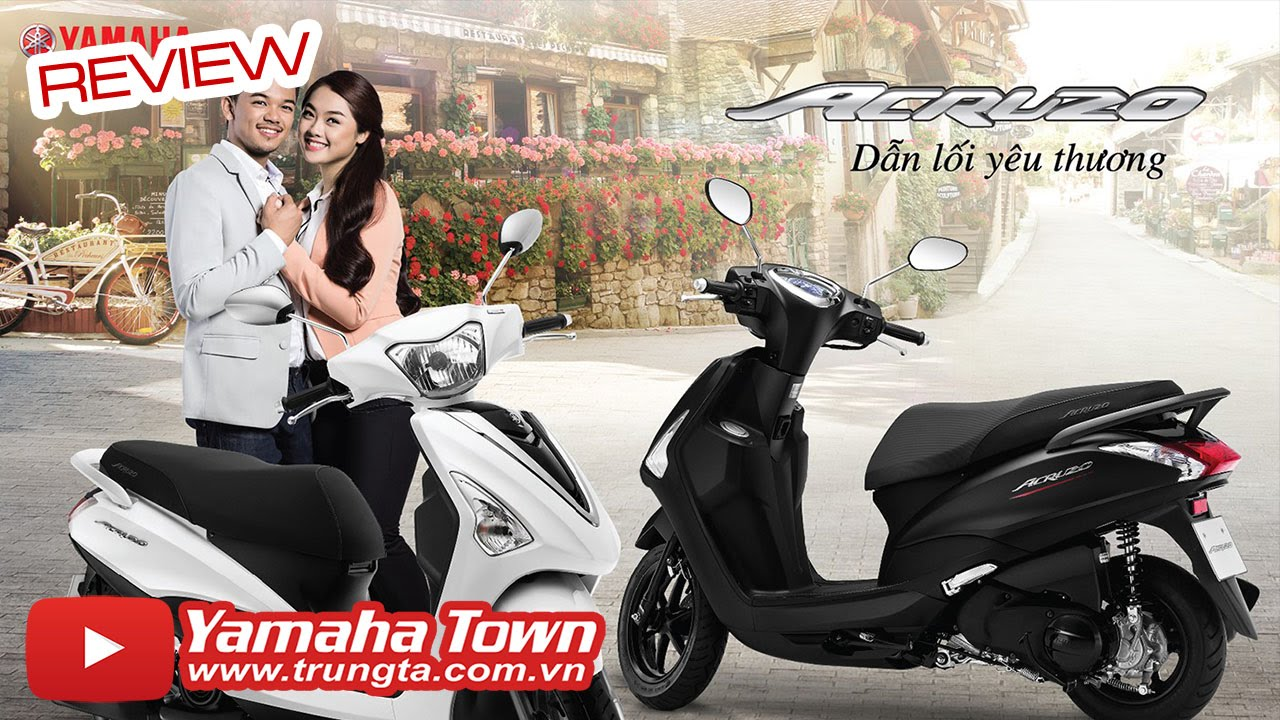 Yamaha Acruzo – Chi tiết xe tay ga tiết kiệm nhiên liệu, nhiều tiện ích! ✔