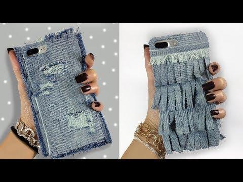 DIY Denim Phone Case ( Easy )