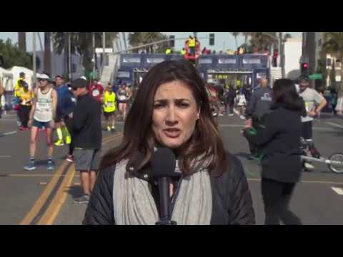 2018 LA Marathon Finish Line Highlights