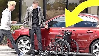 BAD PARKING REVENGE PRANK!!! (HE WAS SO MAD!)