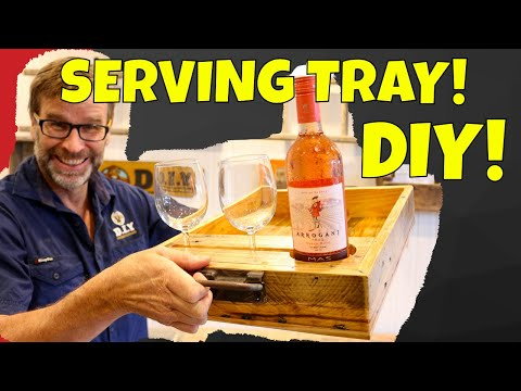 DIY Serving Tray made from Pallets!  Awesome Project!