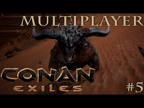 CONAN EXILES MULTIPLAYER GAMEPLAY - The best base location in the game?! - Team DnA #5