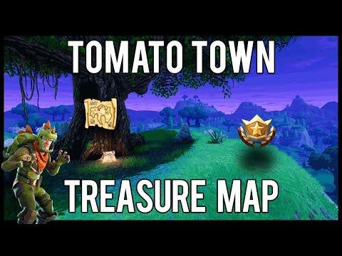 Fortnite Battle Royale - Tomato Town Treasure Map Location Guide (Season 4 Week 1)