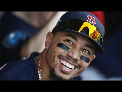 Outfielder Mookie Betts of the Boston Red Sox wins the Most Valuable Player in the American League.