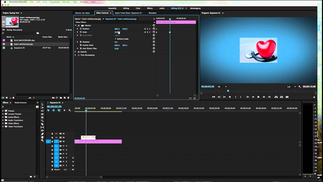 how to change position in premiere pro