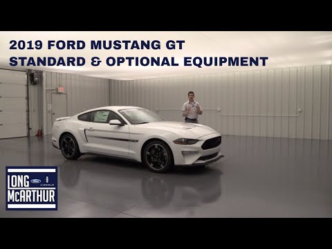 2019 FORD MUSTANG GT STANDARD AND OPTIONAL EQUIPMENT
