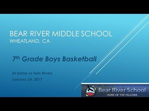 Bear River Middle School 7th Grade Basketball vs Twin Rivers 1/24/17
