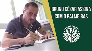 Bruno Cesar assina com o Palmeiras e conhece o novo manto!