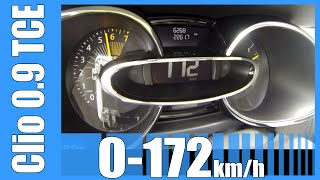 2015 Renault Clio 0.9 Tce 0-172 km/h NICE! Acceleration & Top Speed Run