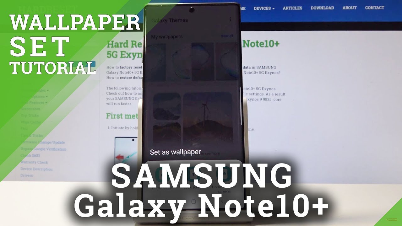 How To Change Wallpaper In Samsung Galaxy Note 10