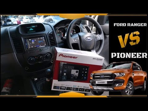 review PIONEER AVH-Z5250bt installed in FORD RANGER ,connect GPS with AndroidAuto,Youtube in Weblink