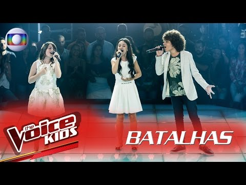 Giulia Soncini, Laura d'Ávila e Luiz Ricardo cantam 'One Last Time' nas Batalhas – The Voice Kids