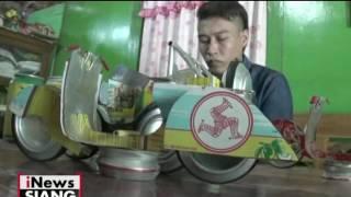 Kreatif, Pemuda di Blora Jateng ubah kaleng bekas minuman menjadi miniatur - iNews Siang 13/05