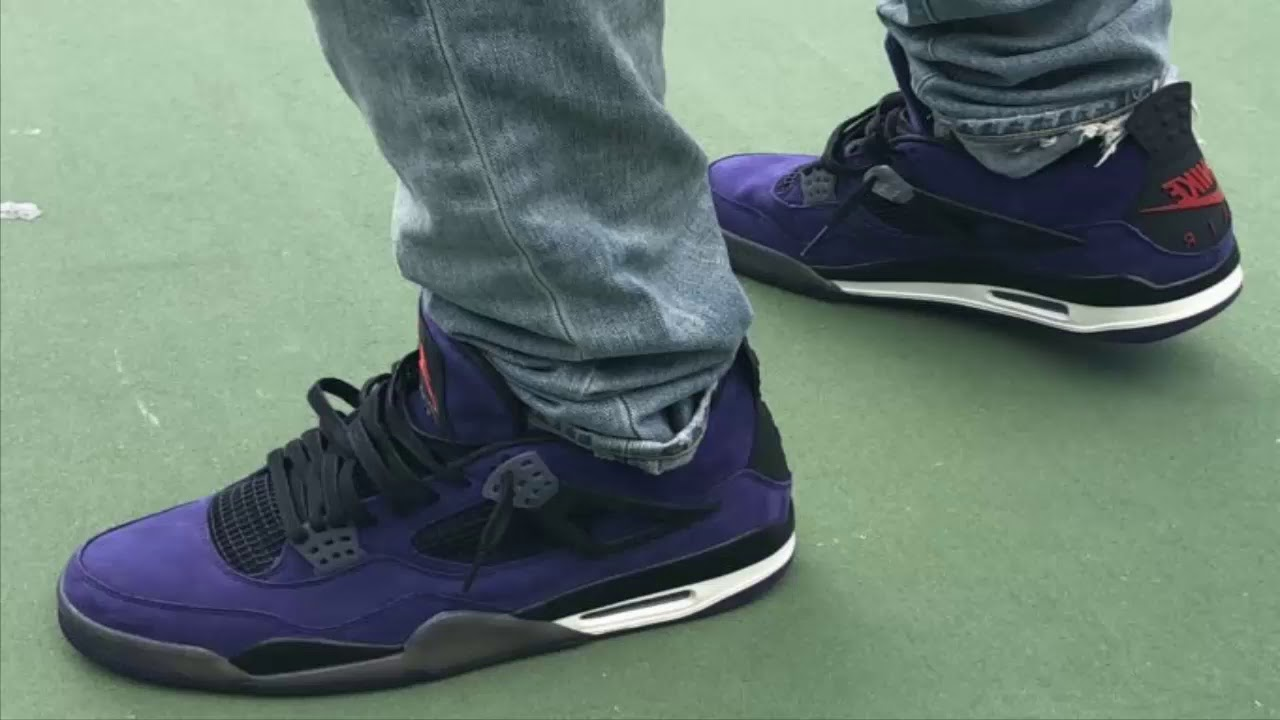 How Do You Like The Travis Scott x Air Jordan 4 Purple  - YouTube c856dc8d8