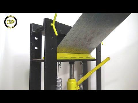 Homemade Press Brake Applications -  Diy Tools