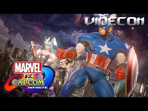 Marvel vs. Capcom Infinite: Gameplay Trailer (Español) - Captain America, Morrigan PS4, Xbox One, PC