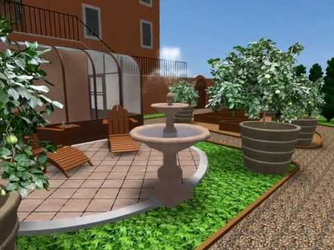 CAD 3D-Greenhouse Garden-Day