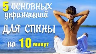 Упражнения для спины. 5 базовых упражнений для здоровья позвоночника(Этот комплекс упражнений для спины подходит людям любого возраста с любым уровнем подготовки. Эти упражнен..., 2016-09-14T10:00:00.000Z)