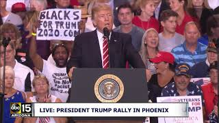 """KIM JONG-UN -- I BELIEVE HE IS STARTING TO RESPECT US!"" President Trump speaks at Phoenix Rally"