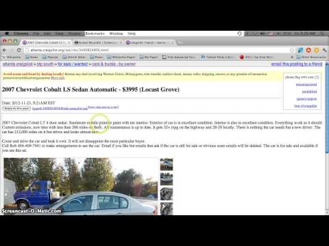 Craigslist Atlanta Used Cars, Appliances And Furniture For Sale By Owner - 2013 Price Predictions