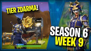 WHERE is the FIFTH FREE TIER FOR SEASON 6 (Week 9)-Fortnite Battle Royale CZ/SK