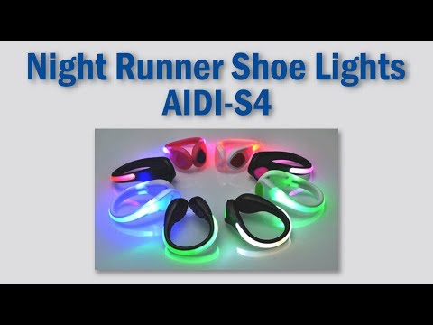 Led USB Rechargeable Clip On Night Runner Shoe Safety Light Up Shoe Clips AIDI-S4
