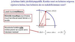 Trigonometrian derivaattasovelluksia