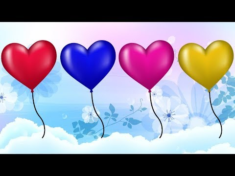 Cartoon For Children || Learn Colors Heart Balloons Video For Kids || Nursery Rhymes thumbnail