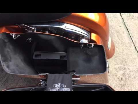 2015 Harley Davidson Road Glide custom stereo subwoofer tweeter system