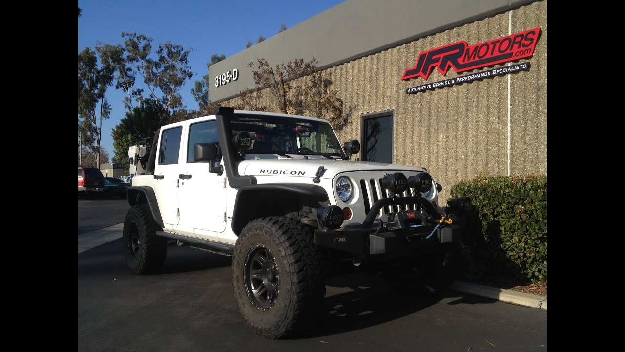 Custom Jeep Jk Wrangler Turbo Kit With Bov Sounds By Jfr Motors
