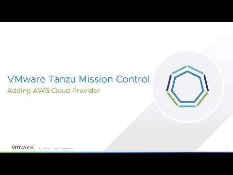 Integrating AWS account with Tanzu Mission Control